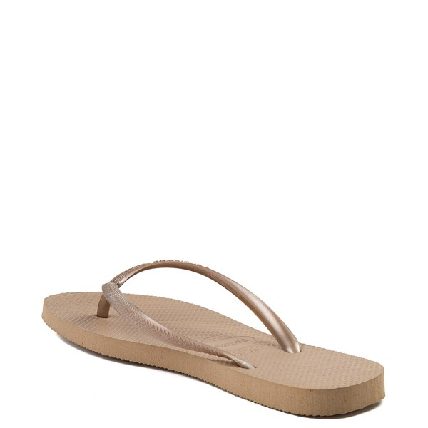 alternate view Womens Havaianas Slim Metallic Sandal - Rose GoldALT2