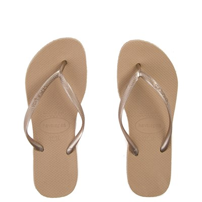 Main view of Womens Havaianas Slim Metallic Sandal - Rose Gold