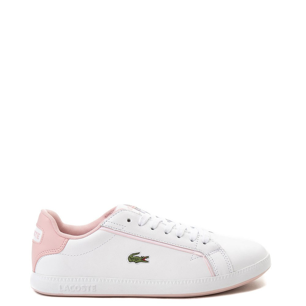 Womens Lacoste Graduate Athletic Shoe - White / Pink