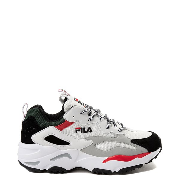 Womens Fila Ray Tracer Athletic Shoe - White / Black / Red