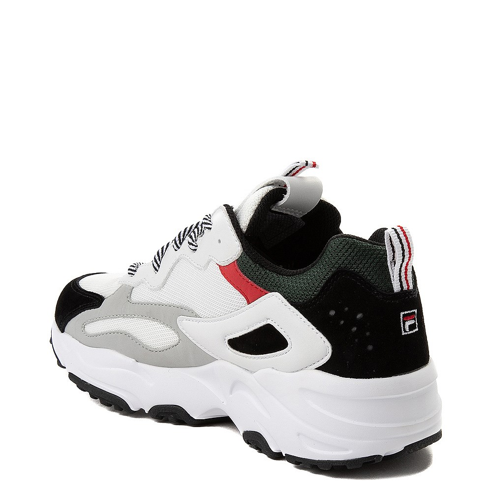 Womens Fila Ray Tracer Athletic Shoe White Black Red