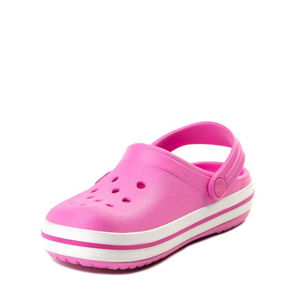 alternate view Crocs Crocband™ Clog - Baby / Toddler / Little Kid - PinkALT2