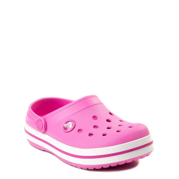 alternate view Crocs Crocband™ Clog - Baby / Toddler / Little Kid - PinkALT5