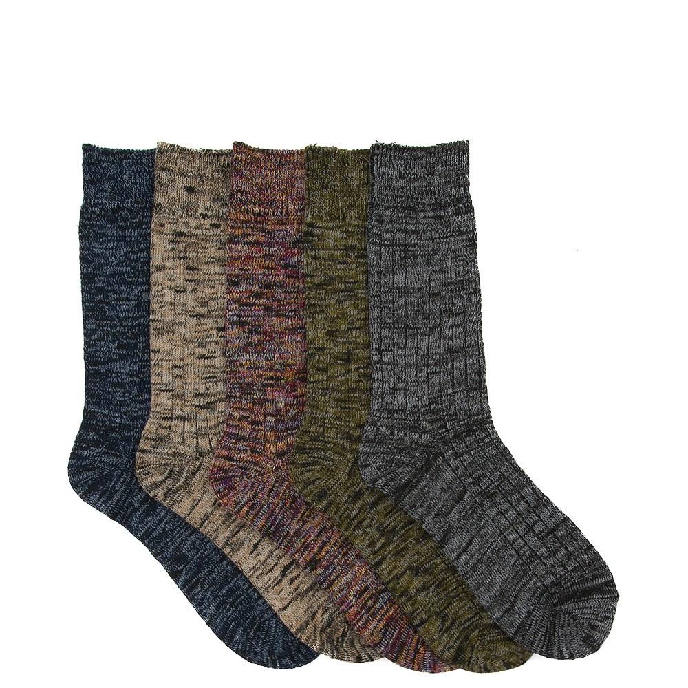 Mens Boot Crew Socks 5 Pack - Multi