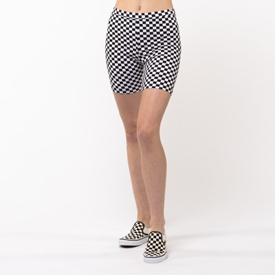 Main view of Womens Vans Checkered Bike Shorts