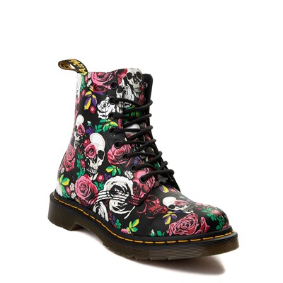Alternate view of Womens Dr. Martens Pascal 8-Eye Rose Skull Boot