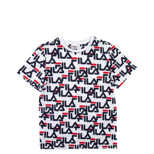 Fila All-Over Logo Tee - Little Kid