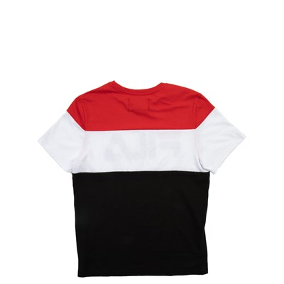 Alternate view of Fila Colorblock Logo Tee - Little Kid