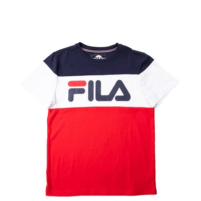Main view of Youth Fila Colorblock Logo Tee