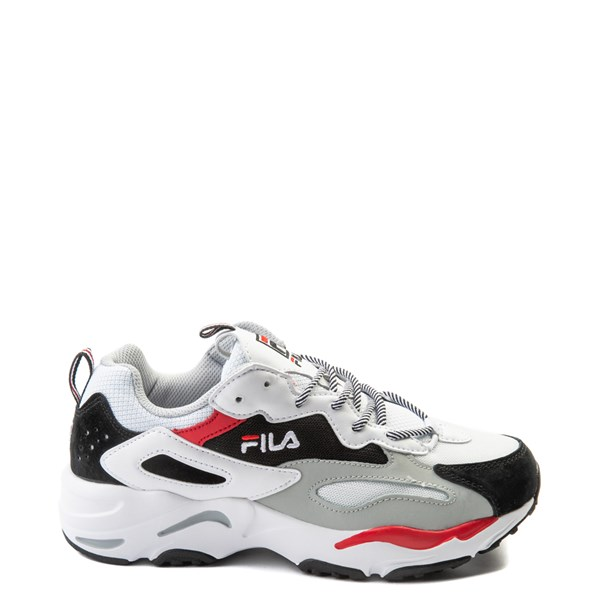 Mens Fila Ray Tracer Athletic Shoe - White / Black / Red