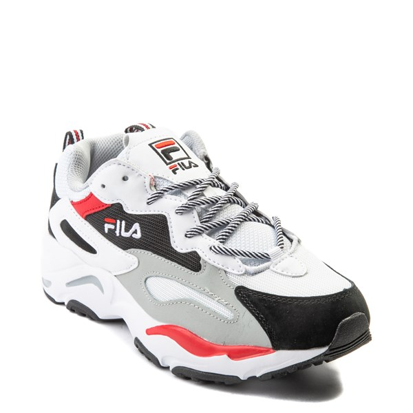 alternate view Mens Fila Ray Tracer Athletic Shoe - White / Black / RedALT1