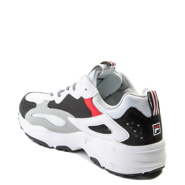 alternate view Mens Fila Ray Tracer Athletic Shoe - White / Black / RedALT2