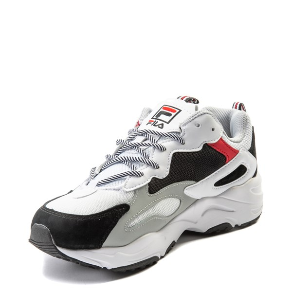 alternate view Mens Fila Ray Tracer Athletic Shoe - White / Black / RedALT3