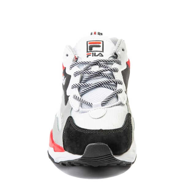 alternate view Mens Fila Ray Tracer Athletic Shoe - White / Black / RedALT4