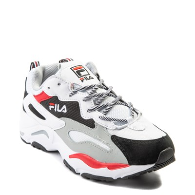 Alternate view of Mens Fila Ray Tracer Athletic Shoe - White / Black / Red