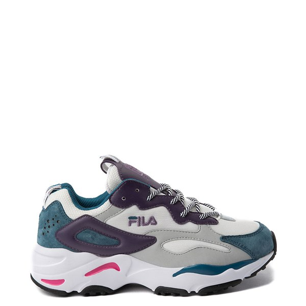 Womens Fila Ray Tracer Athletic Shoe - White / Purple / Blue