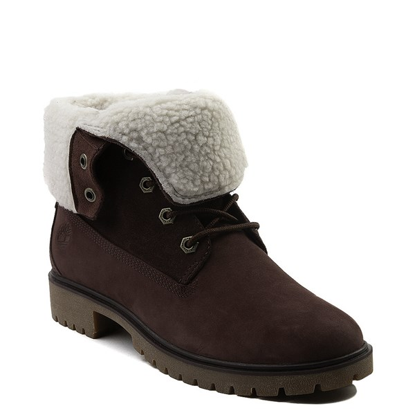 alternate view Womens Timberland Jayne Fleece Boot - BurgundyALT1