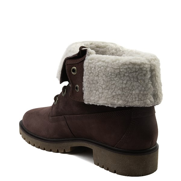 alternate view Womens Timberland Jayne Fleece Boot - BurgundyALT2