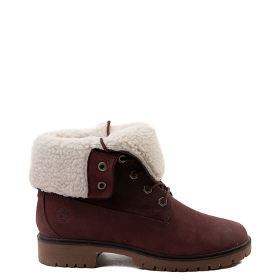 Main view of Womens Timberland Jayne Fleece Boot - Burgundy