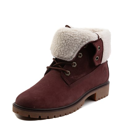 Alternate view of Womens Timberland Jayne Fleece Boot - Burgundy