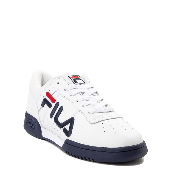 alternate view Fila Original Fitness Athletic Shoe - Little Kid - White / Navy / RedALT1