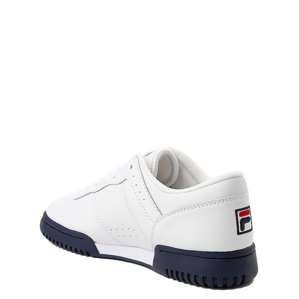 alternate view Fila Original Fitness Athletic Shoe - Little Kid - White / Navy / RedALT2