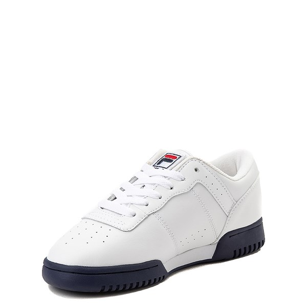 alternate view Fila Original Fitness Athletic Shoe - Little Kid - White / Navy / RedALT3