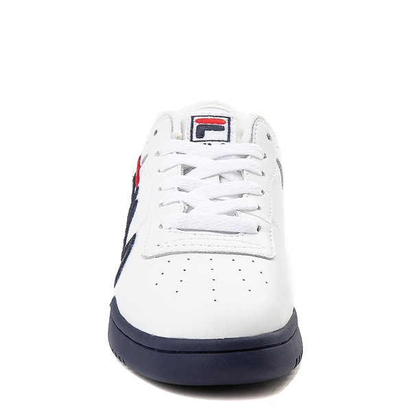 alternate view Fila Original Fitness Athletic Shoe - Little Kid - White / Navy / RedALT4