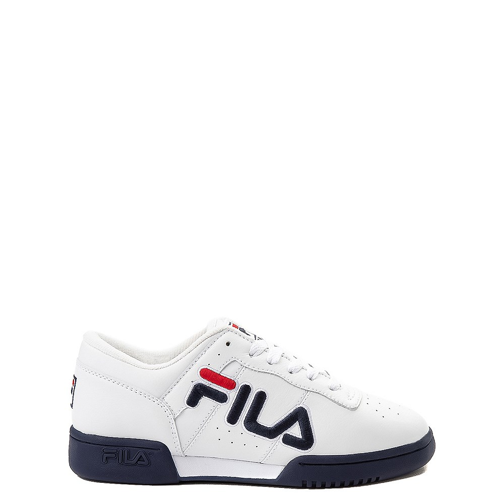 Fila Original Fitness Athletic Shoe - Little Kid - White / Navy / Red