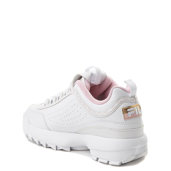 alternate view Fila Disruptor 2 Athletic Shoe - Big Kid - White / Pink / GoldALT2