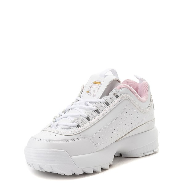 alternate view Fila Disruptor 2 Athletic Shoe - Big Kid - White / Pink / GoldALT3