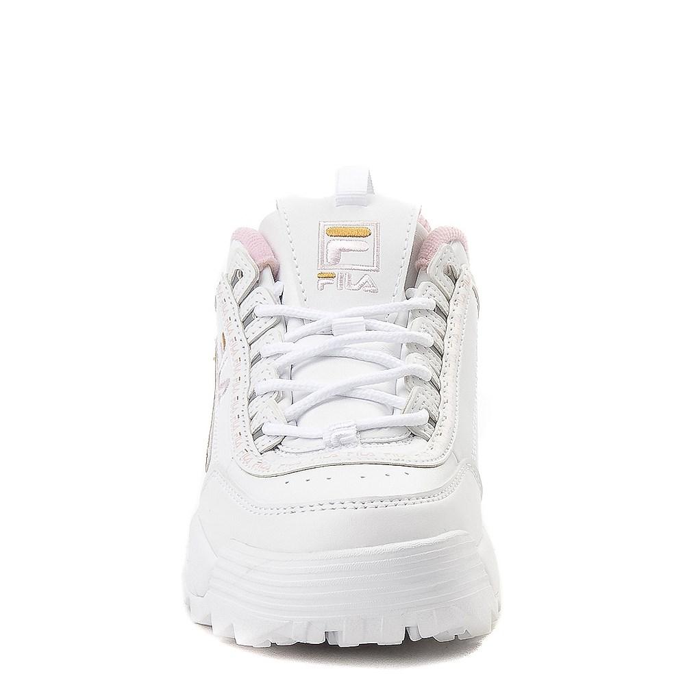 Fila Disruptor 2 Athletic Shoe Big Kid White Pink Gold