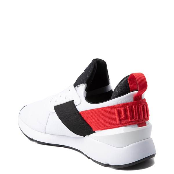 alternate view Womens Puma Muse Croc Athletic Shoe - White / Black / RedALT2