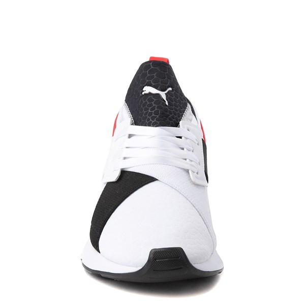 alternate view Womens Puma Muse Croc Athletic Shoe - White / Black / RedALT4