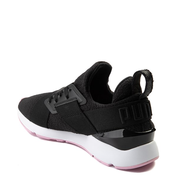 alternate view Womens Puma Muse TZ Athletic Shoe - Black / Pale PinkALT2