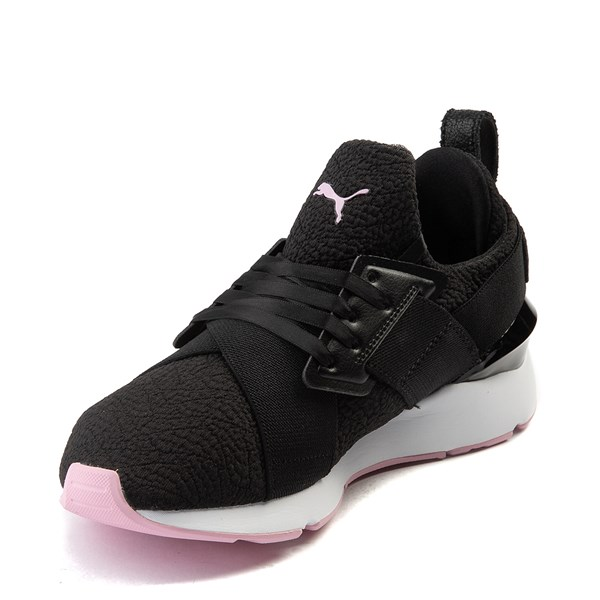 alternate view Womens Puma Muse TZ Athletic Shoe - Black / Pale PinkALT3