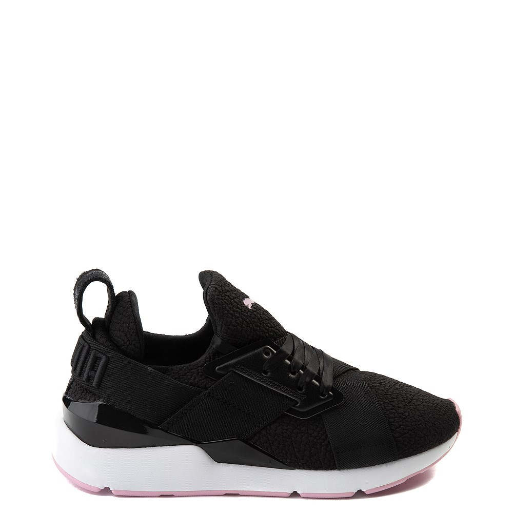 Womens Puma Muse TZ Athletic Shoe - Black / Pale Pink