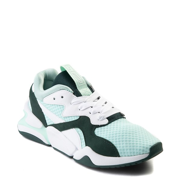 alternate view Womens Puma Nova '90s Athletic Shoe - Mint / Pine / WhiteALT1