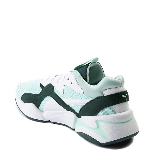 alternate view Womens Puma Nova '90s Athletic Shoe - Mint / Pine / WhiteALT2