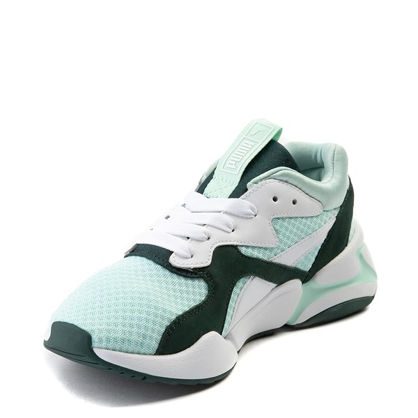 alternate view Womens Puma Nova '90s Athletic Shoe - Mint / Pine / WhiteALT3