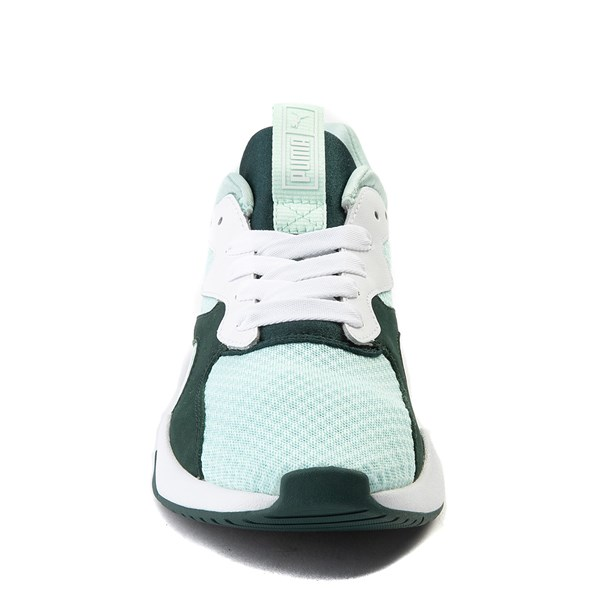 alternate view Womens Puma Nova '90s Athletic Shoe - Mint / Pine / WhiteALT4