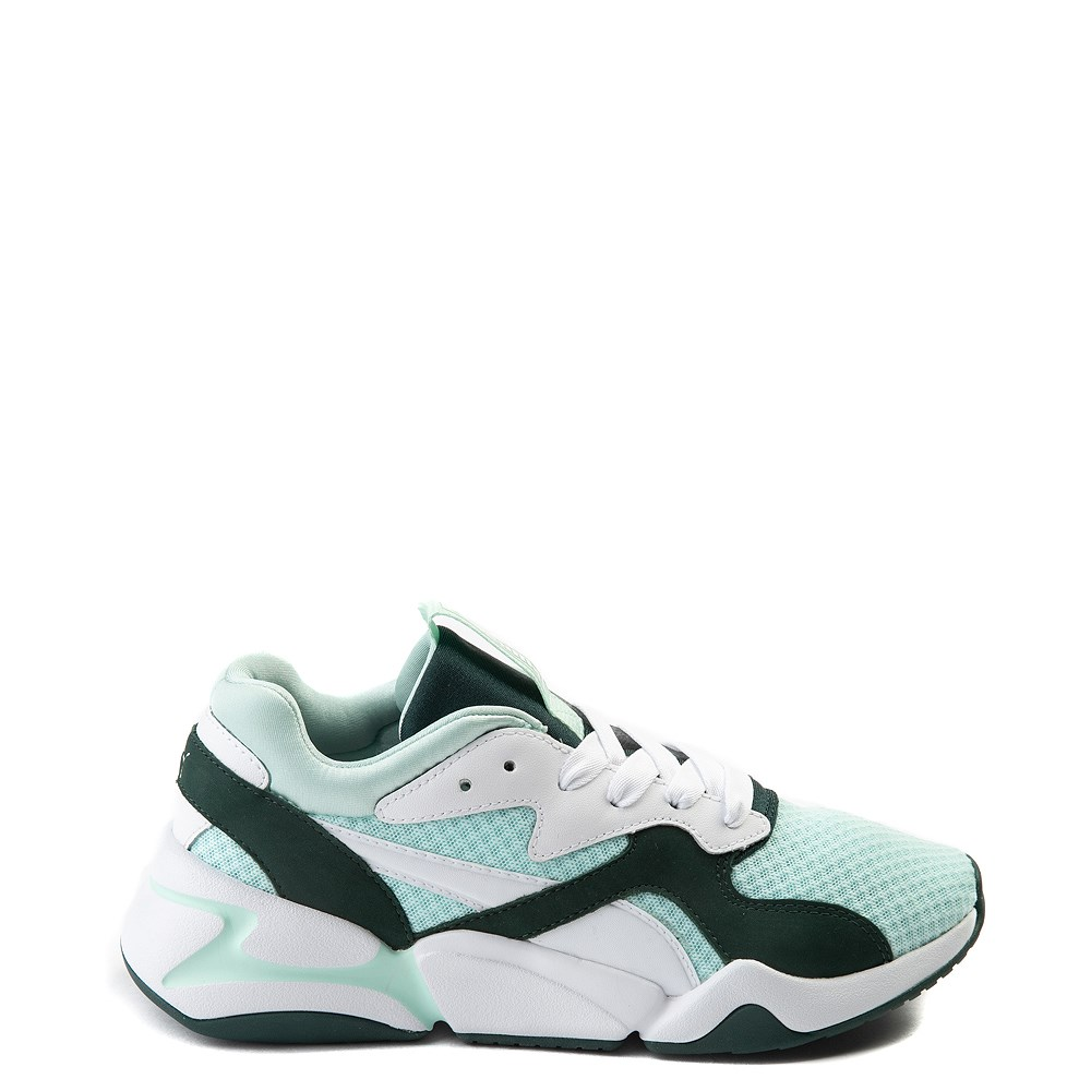 Womens Puma Nova '90s Athletic Shoe - Mint / Pine / White