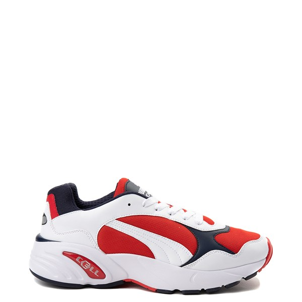 Mens Puma Cell Viper Athletic Shoe - White / Navy / Red