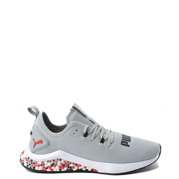Mens Puma Hybrid NX Athletic Shoe - Gray / Red / Black