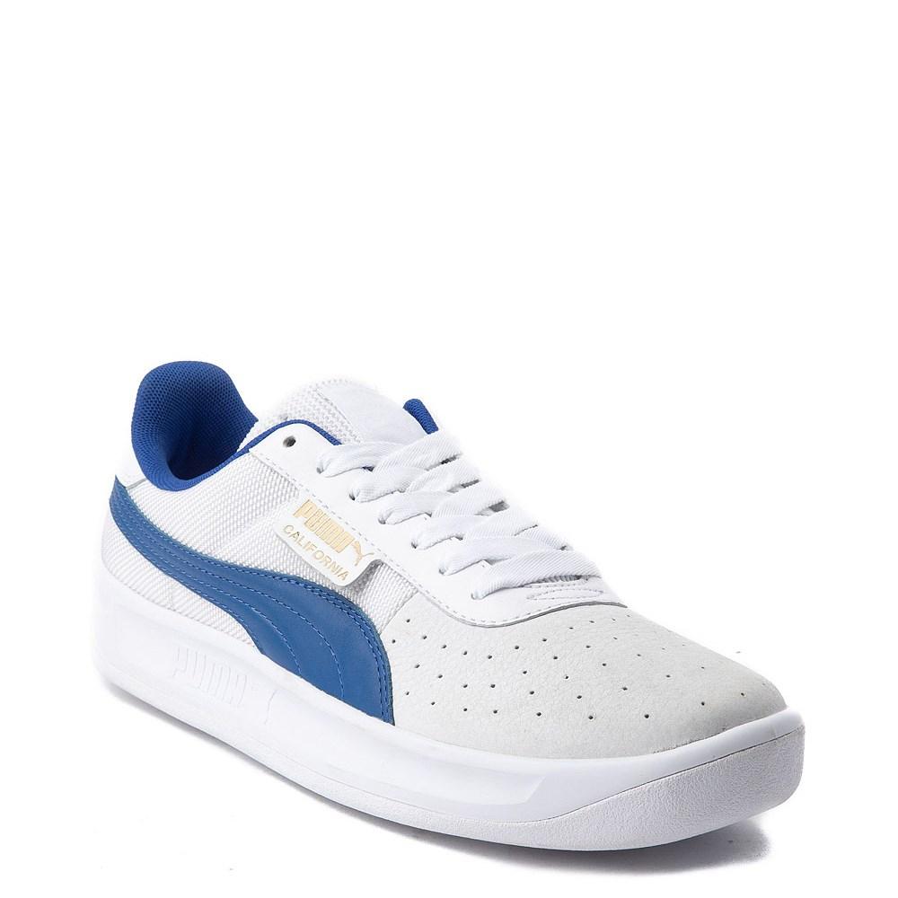 puma shoes blue white