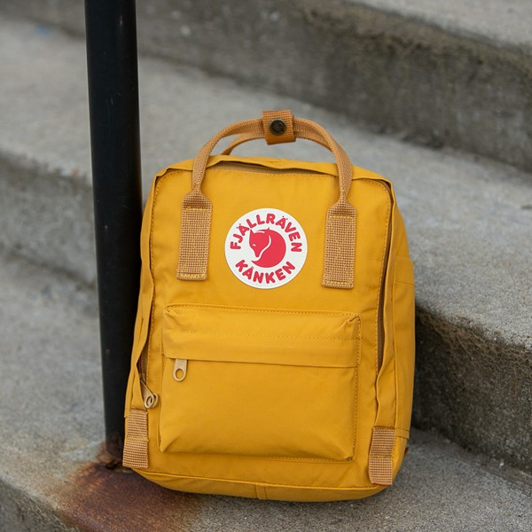alternate view Fjallraven Kanken Mini Backpack - Ochre YellowALT1BB