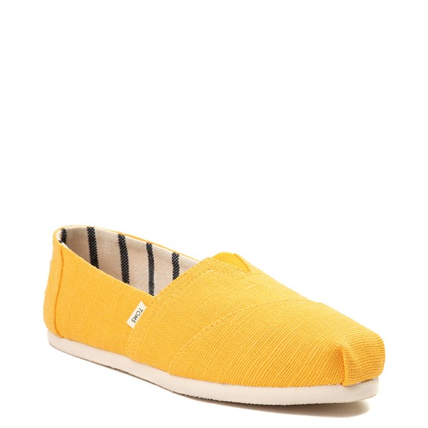 alternate view Womens TOMS Classic Slip On Casual Shoe - YellowALT1