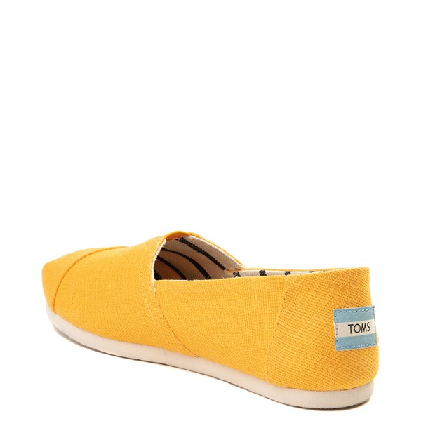 alternate view Womens TOMS Classic Slip On Casual Shoe - YellowALT2