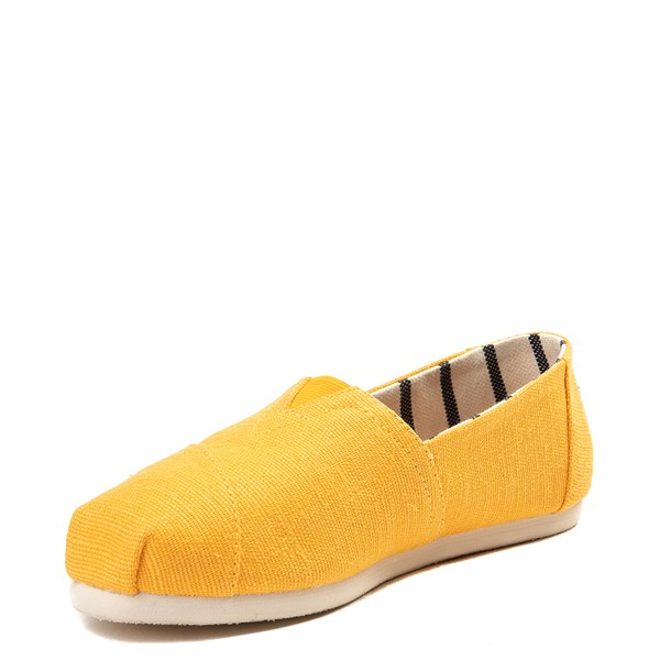 alternate view Womens TOMS Classic Slip On Casual Shoe - YellowALT3