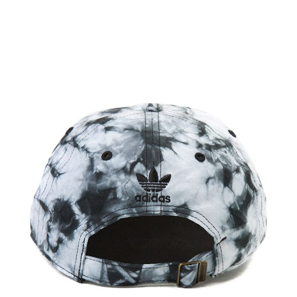 alternate view adidas Trefoil Tie Dye Relaxed Dad Hat - White / BlackALT1